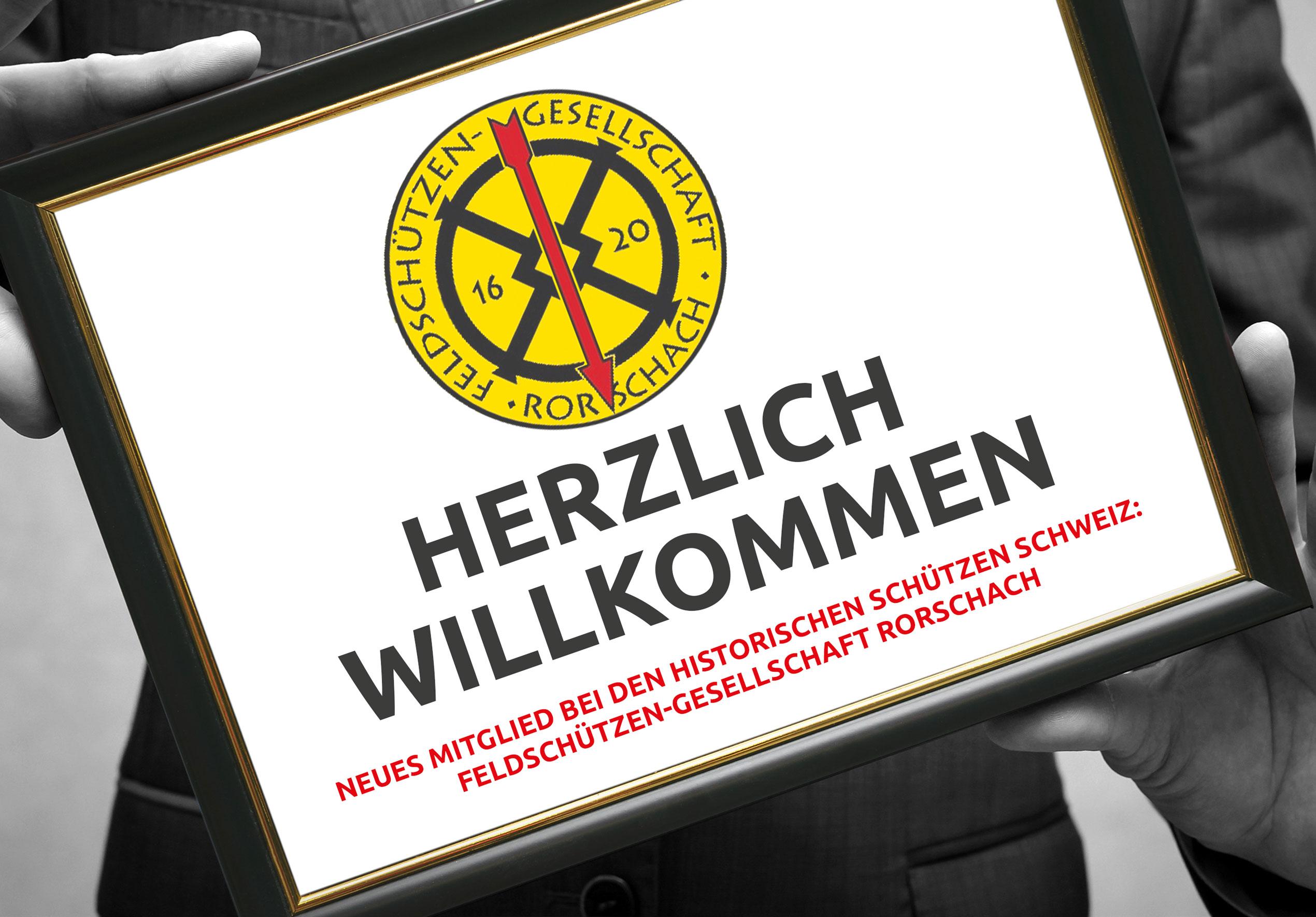 Aufnahme der Feldschützen-Gesellschaft Rorschach als Mitglied bei den Historischen Schützen Schweiz