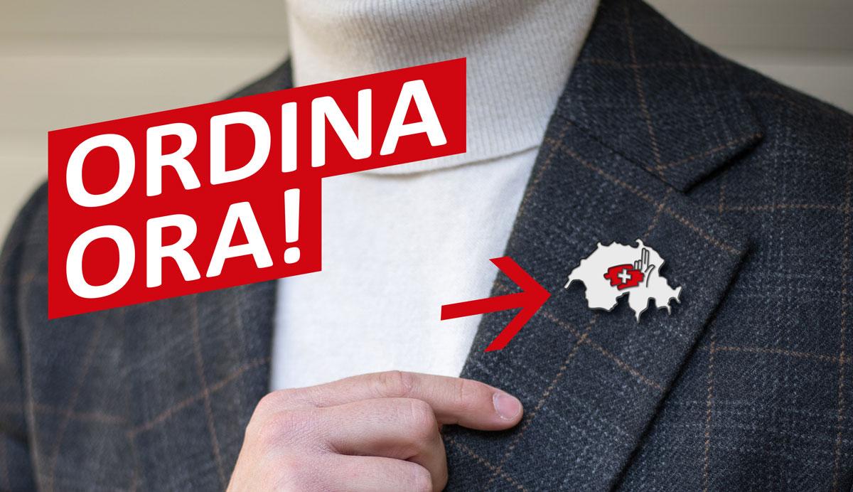 Spilla Svizzera, disponible presso i Tiratori Storici Svizzeri